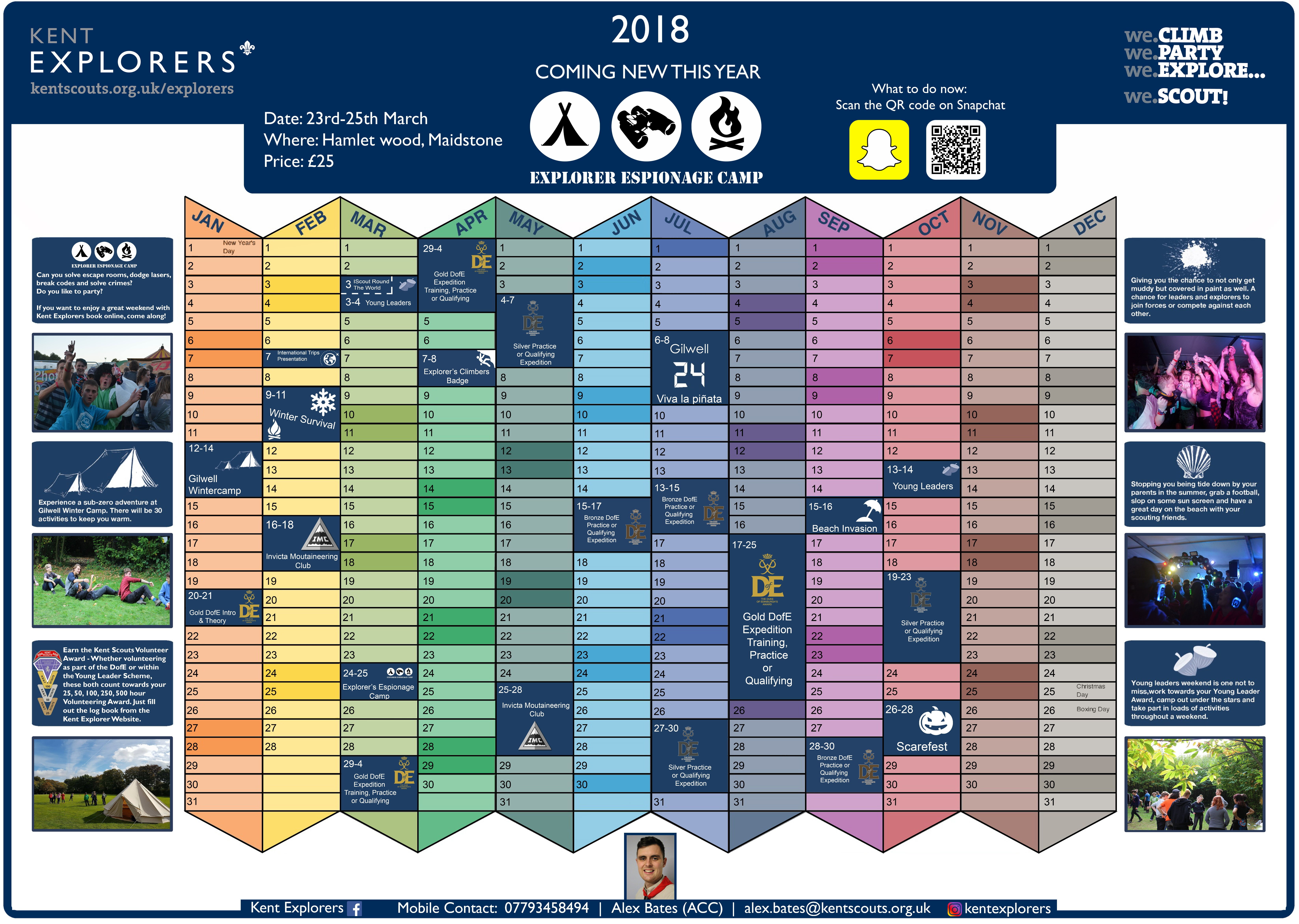 2018 Events Wall Planner
